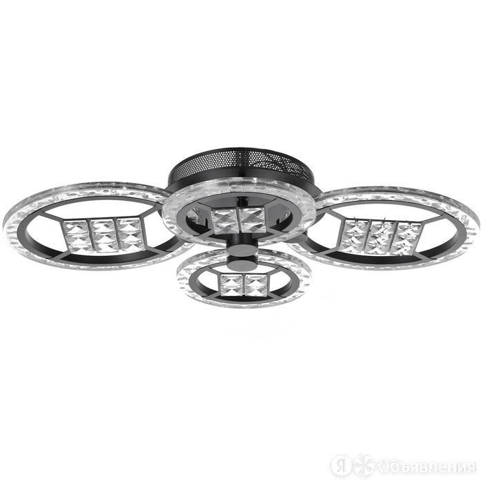 Люстра с ПДУ 1529/4BK LED 80Вт 3000-6000К диммер черный 60х10 см по цене 7150₽ - Люстры и потолочные светильники, фото 0
