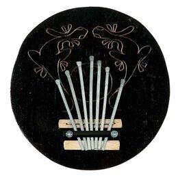 Щипковые инструменты - Музыкальный инструмент 'Калимба узор' круглая 7х14х14 см, 0