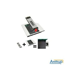 Прочие аксессуары - Espada Переходник Dvd Slim 9,5mm To Hdd Ngff (m2) To Minisata (95m2f) (44855), 0