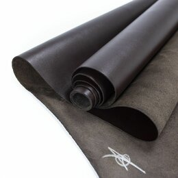 Рукоделие, поделки и сопутствующие товары - Кожа телёнка цвет тёмный шоколад, 0