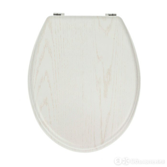 Сиденье для унитаза с крышкой 'Натуральное дерево', 45x35 см, цвет белый по цене 2363₽ - Аксессуары для грилей и мангалов, фото 0