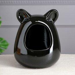 Игрушки и декор  - Ванна для шиншилл, чёрная, 21 см, 0