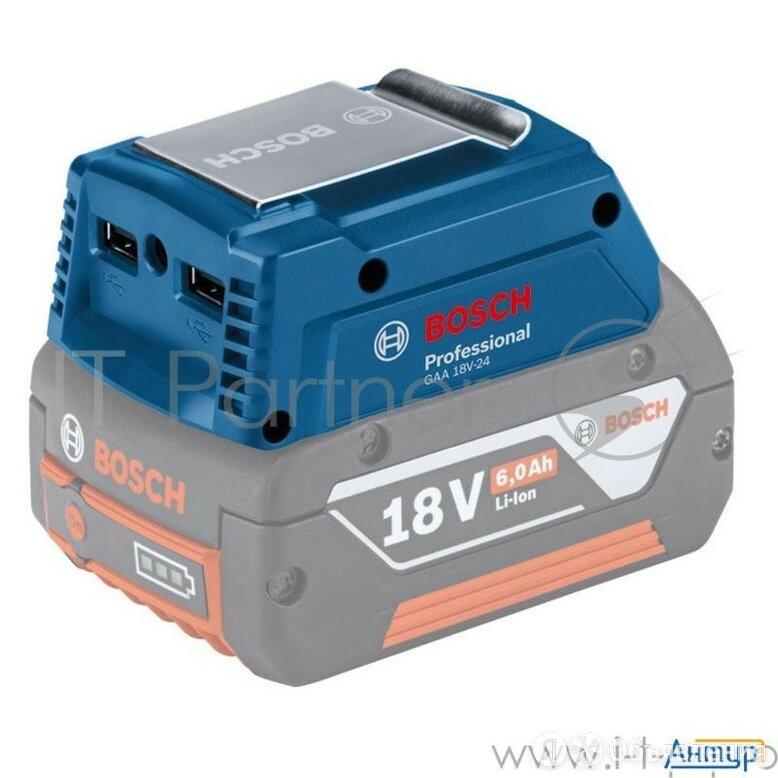 Адаптер Bosch Gaa 18v-24  Usbx2 (2x2.4a  или 2 X 1.2a) Порт для куртки с подо... по цене 2243₽ - Электроустановочные изделия, фото 0