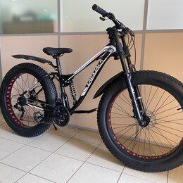 Велосипеды - велосипед фэтбайк с мотовилкой , 0