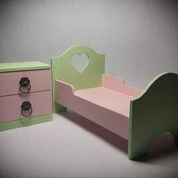 Аксессуары для кукол - Кровать и комод для куклы, 0