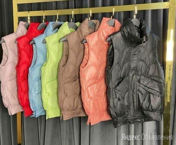 Жилетка женская с карманами осень по цене 1400₽ - Жилеты, фото 0