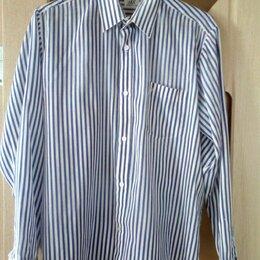 Рубашки - Мужская рубашка (бело-синяя) GABICCI, размер 46-48 (M), 0