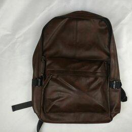 Рюкзаки - Кожаный рюкзак, черный и коричневый, 0