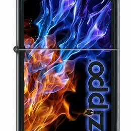 Пепельницы и зажигалки - Зажигалка Zippo 4809 Blue Red Fire, 0