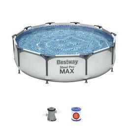 Бассейны - Бассейн Bestway 305х76 см + фильтр-насос 1249 л/ч, 0