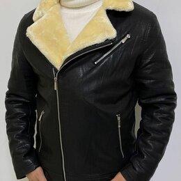 Куртки - Зимняя кожаная куртка пилот мужская р-ры 44-58, 0