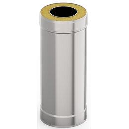 Дымоходы - УМК Сэндвич-труба 1,0м, ф 150х220, AISI 439/439, 1,0мм/0,5мм, (К) (черный), 0