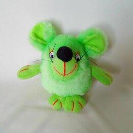 Мягкие игрушки - Мягкая игрушка – зеленая мышка, 0