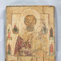 Иконы - Икона Николай Чудотворец, Невьянск 18 век. (008-1019) , 0