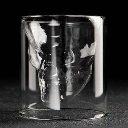Бокалы и стаканы - Стакан с двойными стенками «Череп», 250 мл, 0