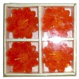 Декоративные свечи - Набор Свеча в виде цветка 5,5см (4 штуки) 1152, 0