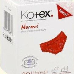 Прокладки и тампоны - Kotex Прокладки Ежедневные Normal 20шт, 0