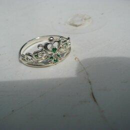 Кольца и перстни - Серебряное колечко для девочки с драгоценными камушками, 0