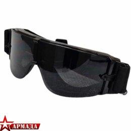 Спортивная защита - Очки тактические TD-RK5 X800 3 сменные линзы Вlack, 0