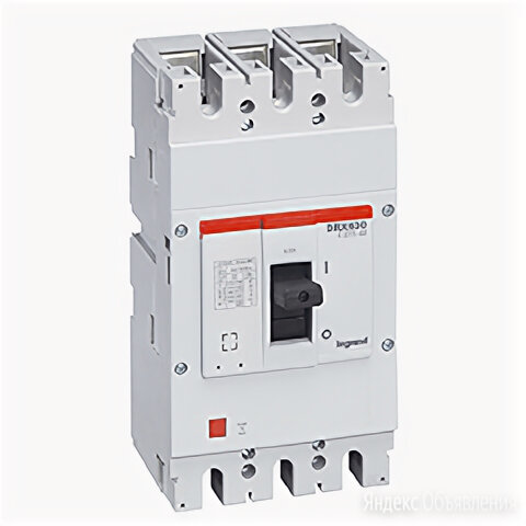 Выключатель автоматический DRX630 трехполюсный 500А 36кА 027236 Legrand по цене 36609₽ - Защитная автоматика, фото 0