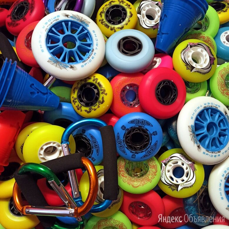 Колеса, подшипники и комплектующие для роликовых коньков по цене 225₽ - Аксессуары и запчасти, фото 0