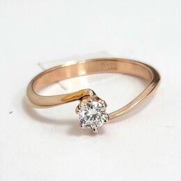 Кольца и перстни - Золотое кольцо с брилл, 15, 0