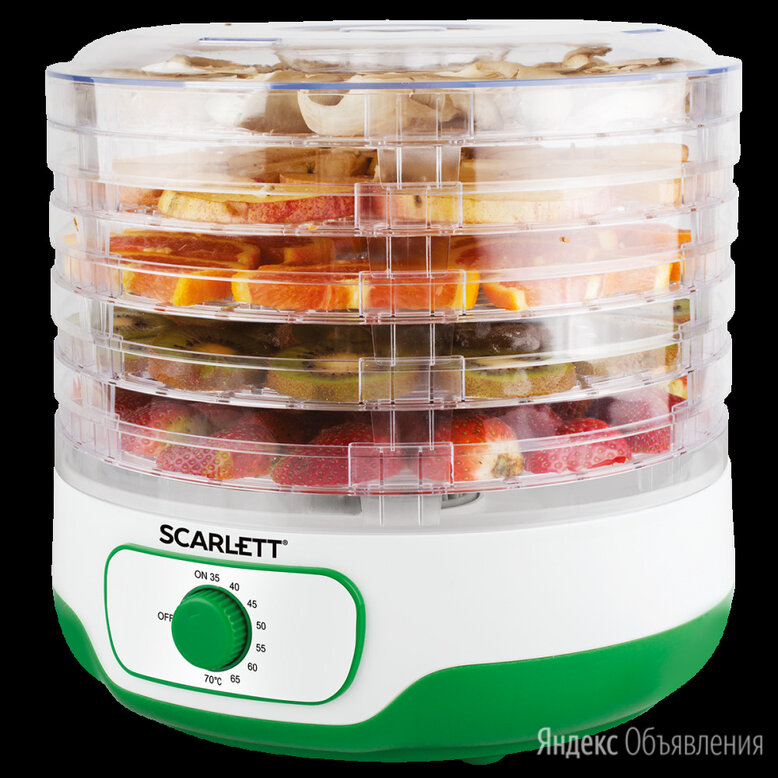 Сушка для фруктов и овощей scarlett sc-fd421011 по цене 2300₽ - Сушилки для овощей, фруктов, грибов, фото 0