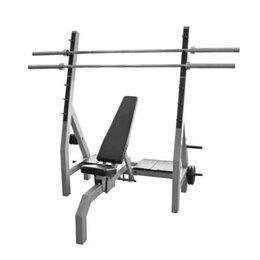 Другие тренажеры для силовых тренировок - Олимпийская горизонтальная скамья для жима лежа ЖУ01, 0