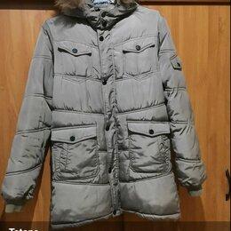 Куртки и пуховики - Пуховик б/у мужской рост 164 прикрывает ягодицы. , 0