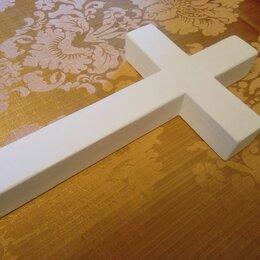 Интерьер - Крест настенный христианский католический белый, 0