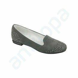 Балетки, туфли - Туфли для девочки, натуральная замша, 0