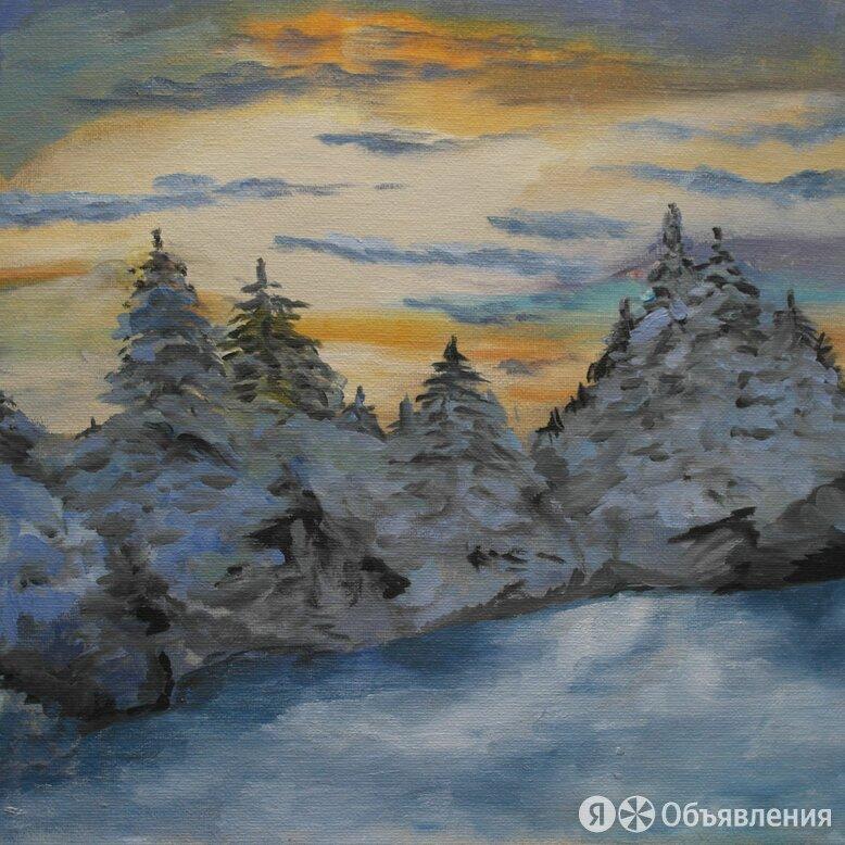 Зимний пейзаж масло по цене 5000₽ - Картины, постеры, гобелены, панно, фото 0