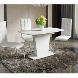 Столы и столики - Стол обеденный раздвижной столешница стекло, 0