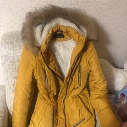 Куртки и пуховики - Желтая зимняя куртка для девочки , 0