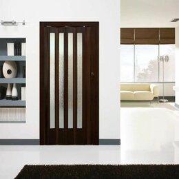 Межкомнатные двери - Дверь-гармошка Premium с витражами любые размерам, 0