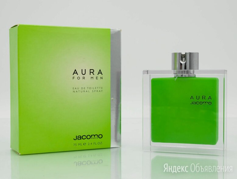 Aura For Men (Jacomo) туалетная вода (EDT) 75 мл по цене 3150₽ - Парфюмерия, фото 0