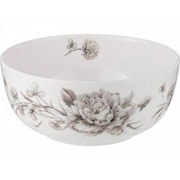 Блюда, салатники и соусники - Салатник-тарелка суповая Lefard White flower 15,5х7см белый,фарфор, 0