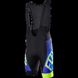 Шорты - Велотрусы с лямками Fox Ascent Comp Bib, черно-синий, полиэстер (Размер S (151, 0