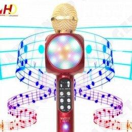 Оборудование для звукозаписывающих студий - Караоке Микрофон с цветомузыкой WS1816 красный, 0