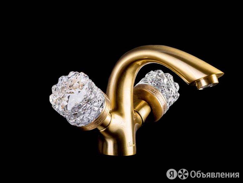 Смеситель для умывальника CRYSTAL Бронза (двуручковый) Boheme 311-CRST по цене 20965₽ - Краны для воды, фото 0