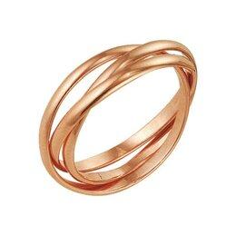 """Свадебные украшения - Кольцо """"Три нити"""", позолота, 16,5 размер, 0"""