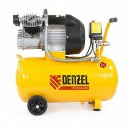 Воздушные компрессоры - Пневматический компрессор 2,2 кВт, 350 л/мин, 50 л Denzel, 0