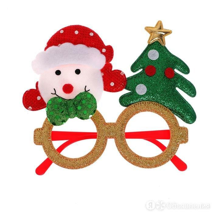 Карнавальные очки «Снеговик с ёлочкой» по цене 248₽ - Новогодний декор и аксессуары, фото 0
