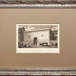 Гравюры, литографии, карты - Гравюра 1829 года. Печатный двор в Париже, в обрамлении R1466, 0
