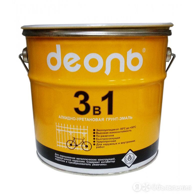Грунт-эмаль по ржавчине Деоль D3V1BK3 по цене 1276₽ - Эмали, фото 0