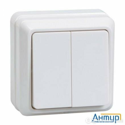 Iek Evo20-k01-10-dc ВС20-2-0-ОБ Выключатель 2кл 10А откр.уст. ОКТАВА (белый) по цене 83₽ - Электроустановочные изделия, фото 0