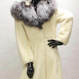 Шубы - шуба норковая с капюшоном чернобурки 42-44, 0