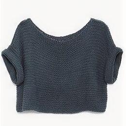 Свитеры и кардиганы - Короткий свитер спицами, 0
