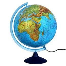Глобусы - Интерактивный глобус физико-политический, диаметр 320 мм, с подсветкой, с очками, 0