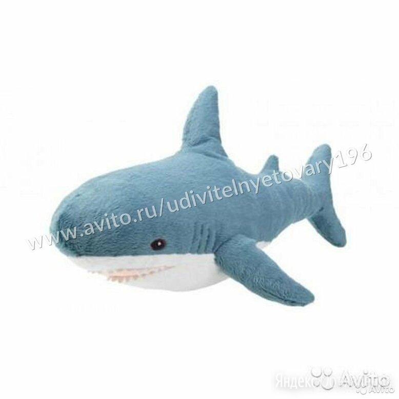 Акула Блохэй 30 см мягкая игрушка по цене 350₽ - Мягкие игрушки, фото 0